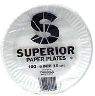 Superior 6 Inch Paper Plates 100 ct
