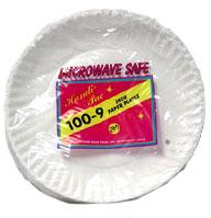9 inch Paper Plates 100ct