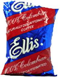 Ellis 100% Colombian Decaffeinated Ground Coffee 96 2.5oz Bags