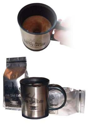 New York Coffee Beans 4 1LB Bags with Electric Coffee Mug