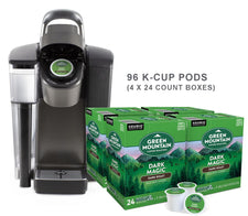Keurig K1500 Brewer Dark Magic 96ct K-Cup Pod Bundle