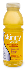 Skinny Water Passionfruit Lemonade Total-V, 24 16.9oz Bottle