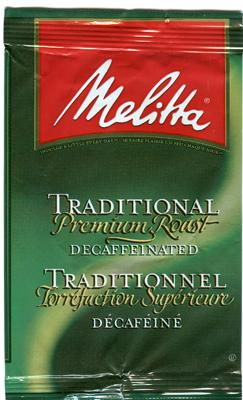 Melitta Traditional Blend Decaffeinated Ground Coffee 30 1.5oz Bags