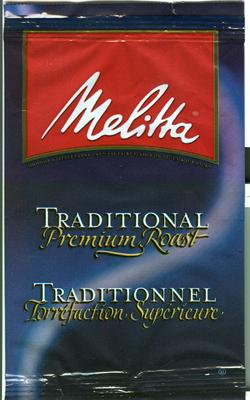 Melitta Traditional Blend Ground Coffee 30 1.5oz Bags