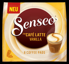 Senseo Cafe Latte Vanilla Pods 8ct