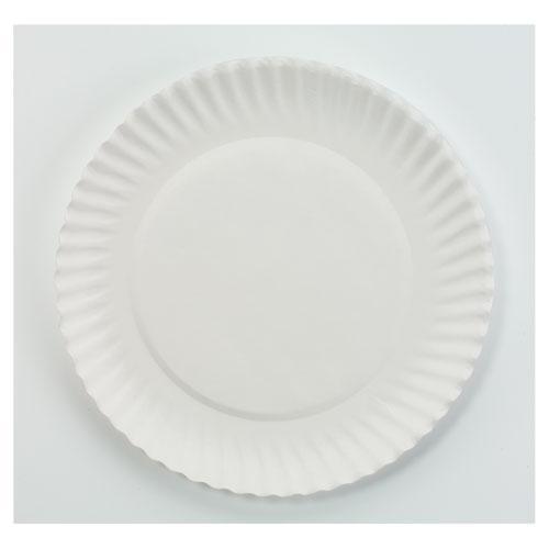 AJM 6 Inch White Paper Plates 10 100ct Bags