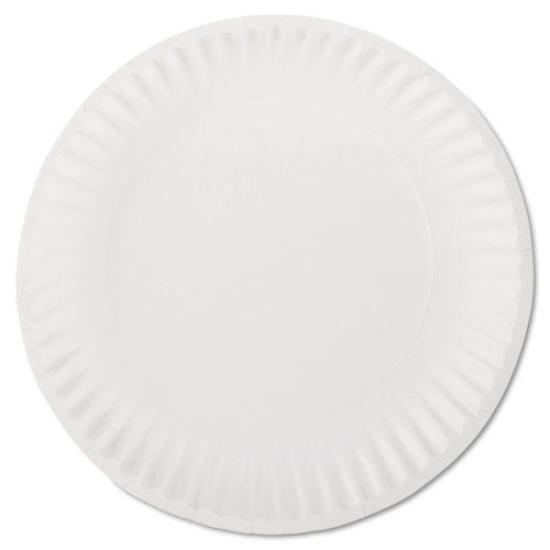 AJM 9 Inch White Paper Plates 10 100ct Bags