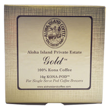 Aloha Island Coffee 100% Pure Estate Kona Coffee Pods - Light Roast - 12ct Box