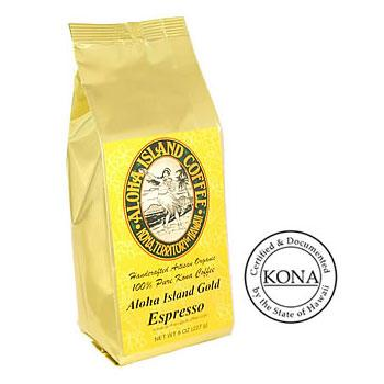 100% Pure Kona Gold Espresso Roast Ground Coffee