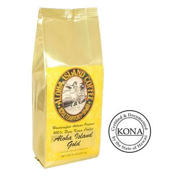 100% Pure Kona Gold Medium Roast Coffee Beans