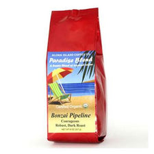 Aloha Island Bonzai Pipeline Dark Roast Ground Coffee 8oz Bag