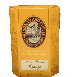 Aloha Island Bronze 100% Estate Kona Coffee Pods 12ct