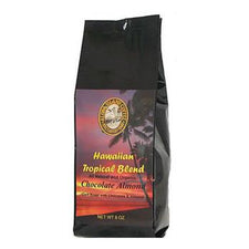Aloha Island Chocolate Almond Flavored Coffee Beans 8oz Bag
