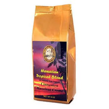 Aloha Island Cinnamon Hazelnut Flavored Coffee Beans 8oz Bag