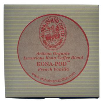 Aloha Island 100% Pure Estate French Vanilla Kona Coffee Pods 36ct