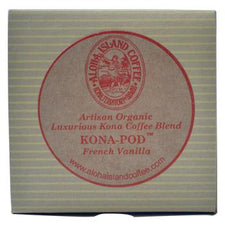 Aloha Island 100% Pure Estate French Vanilla Kona Coffee Pods 24ct
