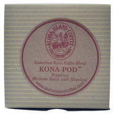 Aloha Island Coffee 100% Pure Estate Hazelnut Kona Coffee Pods - 48ct Box