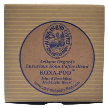 Aloha Island Kona Breakfast Blend Coffee Pods 24ct Box