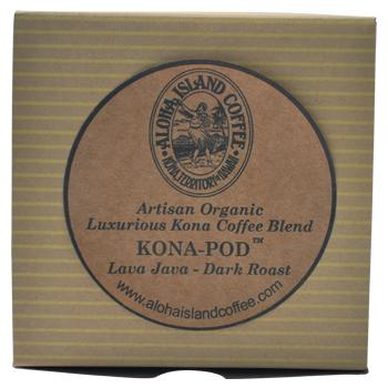 Aloha Island Lava Java Kona Dark Roast Coffee Pods 18ct Box