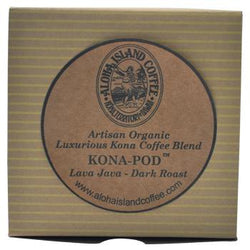 Aloha Island Lava Java Kona Dark Roast Coffee Pods 24ct Box