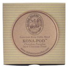 Aloha Island Chocolate Paradise Kona Dark Roast Coffee Pods 36ct Box