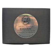 Aloha Island 100% Pure Estate Kona Dark Roast Coffee Pods 12ct Box Back
