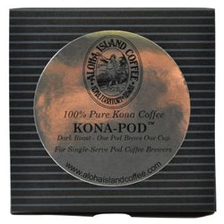 Aloha Island 100% Pure Estate Kona Dark Roast Coffee Pods 24ct Box