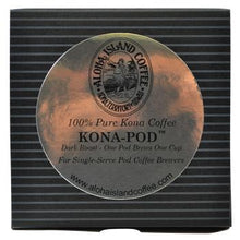 Aloha Island Coffee Dark Roast Kona Coffee Pods Box