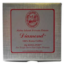 Aloha Island Private Reserve Diamond 100% Kona Coffee Pods 24ct Box