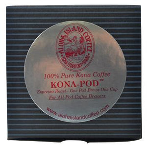 Aloha Island Coffee 100% Pure Estate Kona Coffee Pods - Espresso Roast - 36ct Box