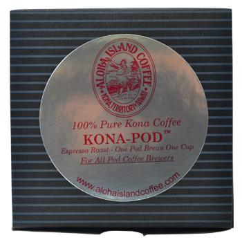 Aloha Island 100% Pure Estate Kona Espresso Roast Coffee Pods 12ct