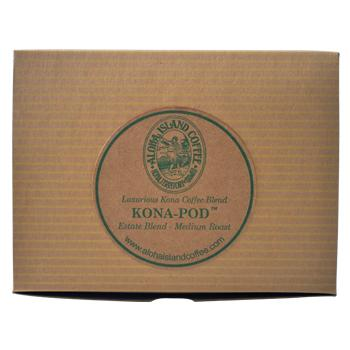 Aloha Island 100% Pure Estate Kona Medium Roast Coffee Pods 12ct Side