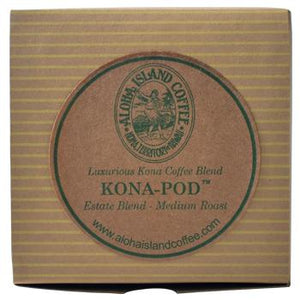 Aloha Island 100% Pure Estate Kona Medium Roast Coffee Pods 12ct
