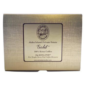 Aloha Island Gold 100% Kona Coffee Pods 36ct Side