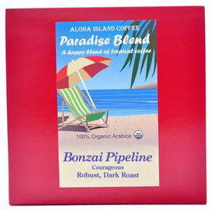 Aloha Island Bonzai Pipeline Dark Roast Coffee Pods 18ct Side