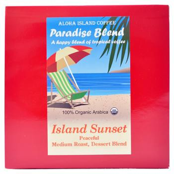 Aloha Island Sunset Tropical Medium Roast Coffee Pods 24ct Side