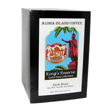 Aloha Island King's Reserve Dark Roast Coffee Pods 18ct