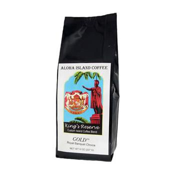 Aloha Island King's Reserve Gold Coffee Beans 8oz Bag