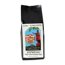 Aloha Island King's Reserve Gold Espresso Coffee Beans 8oz Bag
