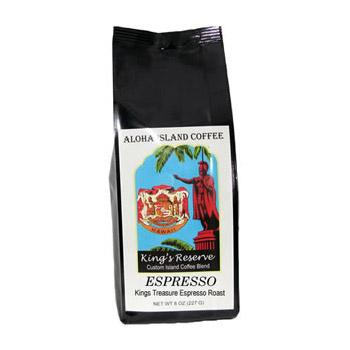 Aloha Island King's Reserve Gold Espresso Ground Coffee 8oz Bag