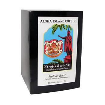 Aloha Island King's Reserve Medium Roast Coffee Pods 36ct