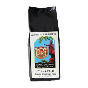 Aloha Island King's Reserve Platinum Coffee Beans 8oz Bag