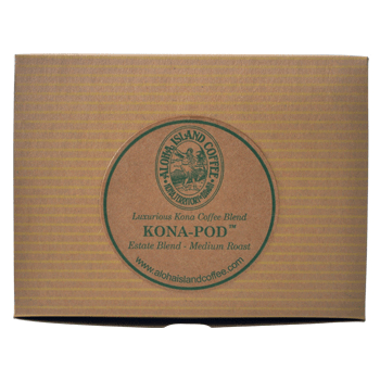 Aloha Island Estate Blend Kona Medium Roast Coffee Pods 12ct