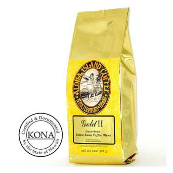 Organic Kona Blend Coffee Gold II Medium Roast Coffee Beans
