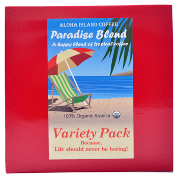 Aloha Island Organic Variety Pack Coffee Pods 18ct