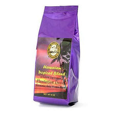 Aloha Island Plantation Blend SWP Decaf Ground Coffee 8oz Bag