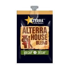 Alterra House Blend Decaf Coffee Fresh Packs 5 Rails 100 Ct