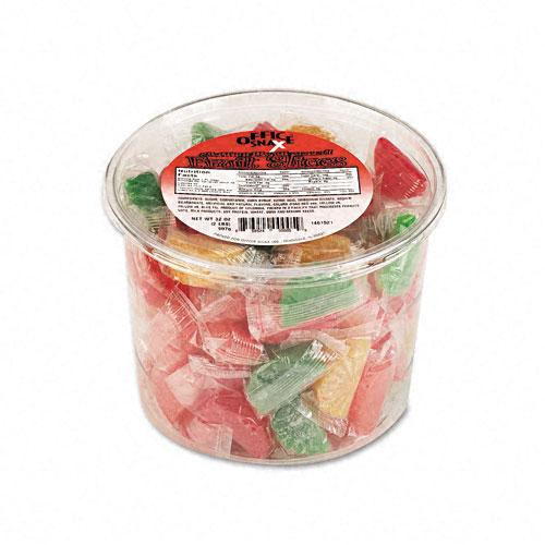 Fruit Products Mail: Assorted Fruit Slices Candy 2LB Tub