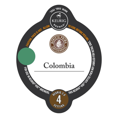 Barista Prima Coffeehouse Colombia Vue Packs 12ct