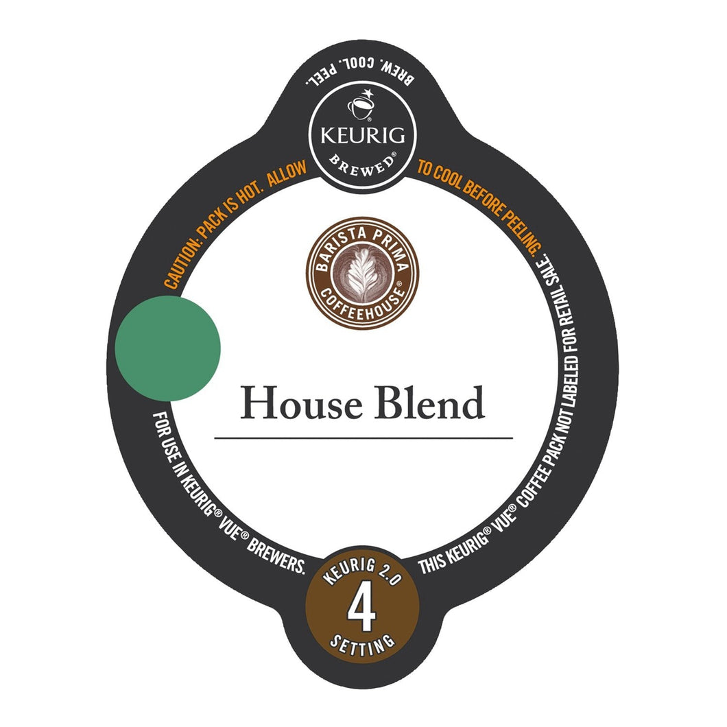 Barista Prima Coffeehouse House Blend Vue Packs 12ct